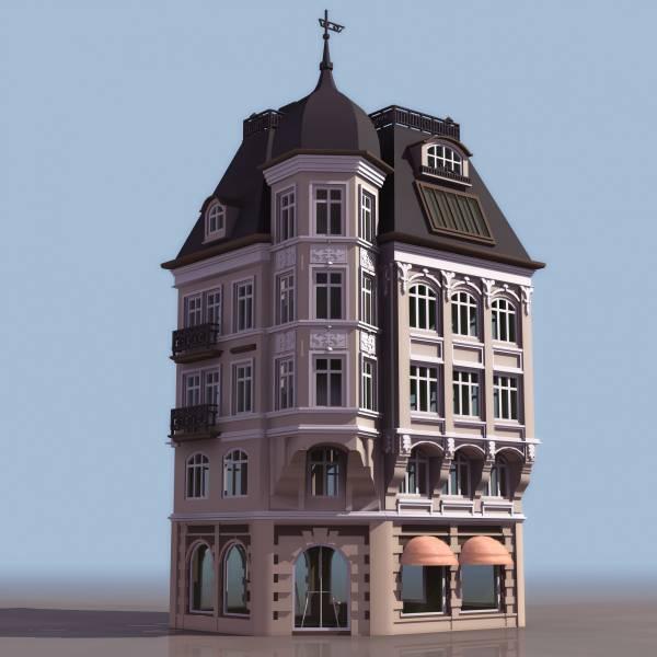 3D модель здания BankHaus, format 3ds - Сооружения - формат .3ds - Чертежи разных форматов - Материалы - Чертежик